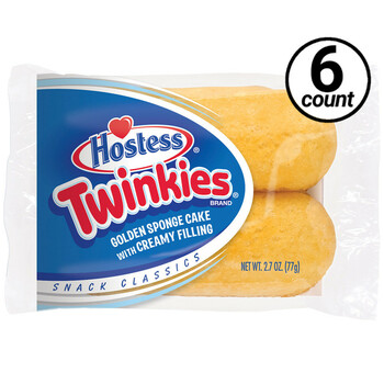 Hostess, Twinkies, 2.70 oz. Pack (6 Count)