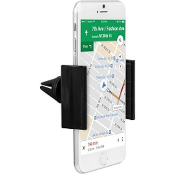 iHome Air Clip, Air Vent Car Mount for Smartphones, Black Color (1 Count)
