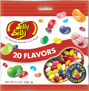 Jelly Belly, 20 Assorted Flavors, 3.5 oz. Bag (1 Count)