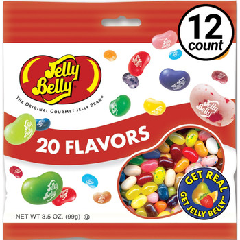 Jelly Belly, 20 Assorted Flavors, 3.5 oz. Bag (12 Count)