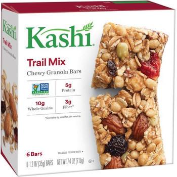 Kashi Chewy Granola Bar, Trail Mix, 1.2 oz. Bars (6 Count)
