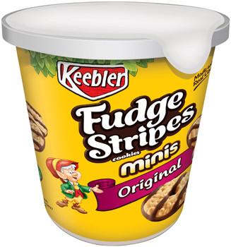 Keebler Fudge Stripes Cookies, Original, Mini, Cup on the Go, 3 oz. (1 Count)