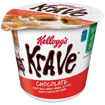 Kellogg's Cereal in a Cup, Krave, Chocolate, 1.87 oz. Cup (1 Count)