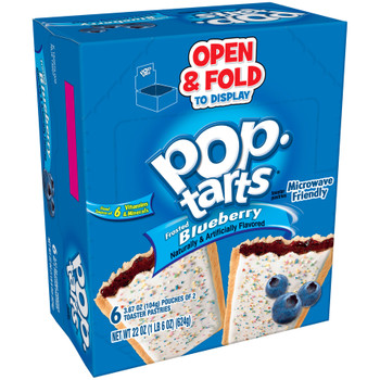 Kellogg's Pop-Tarts, Frosted Blueberry, 2-3.67 oz. Pastries (6 Count)