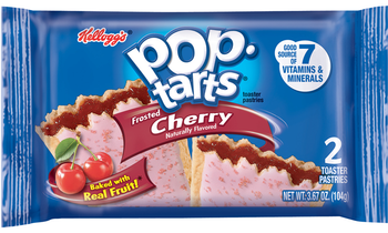 Kellogg's Pop-Tarts, Frosted Cherry, 2-3.67 oz. Pastries (6 Count)