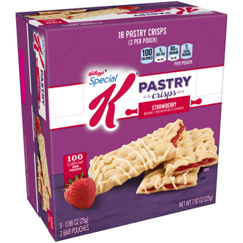 Kellogg's Special K Pastry Crisp, Strawberry, 0.88 oz. (9 Count)