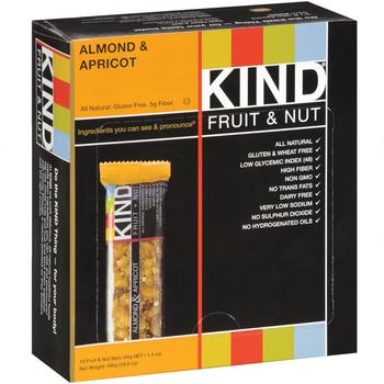 KIND Fruit & Nut, Almond & Apricot, 1.4 oz. Bar, (12 Count)