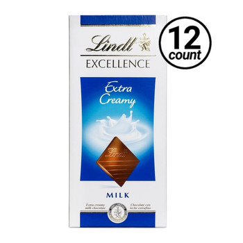 Lindt Excellence, Extra Creamy Milk Chocolate, 3.5 oz. Bars ( 12 Count)