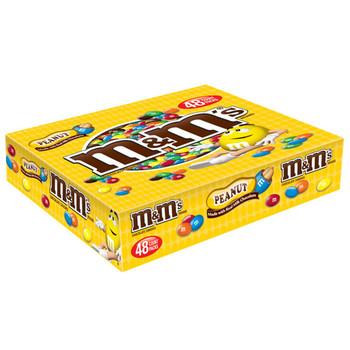 M&M's, Chocolate Candies, Peanut, 1.74 oz. Bags (48 Count)