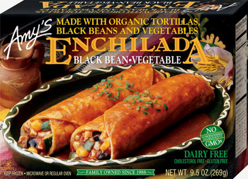 Amy's Kitchen, Black Bean Vegetable Enchilada, 10.0 oz. Entree (1 Count)