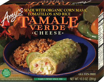 Amy's Kitchen, Cheese Tamale Verde, 10.3 oz. Entree (1 Count)