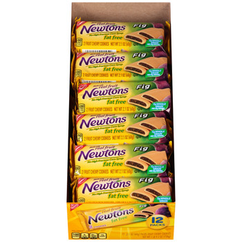 Fig Newton, Fat FREE, Chewy Cookies, 2.1 oz. (12 Count)