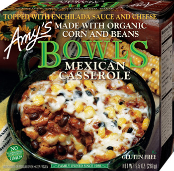 Amy's Kitchen, Mexican Casserole Bowl 9.0 oz. Entree (1 Count)