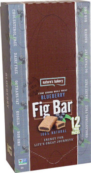 Nature's Bakery, Whole Wheat Fig Bar Blueberry, 2.0 oz. (12 Count)