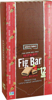 Nature's Bakery, Whole Wheat Fig Bar Raspberry, 2.0 oz. (12 Count)