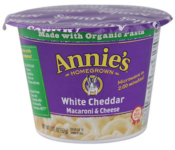 Annie's Homegrown Macaroni & Cheese, White Cheddar, 2.01 oz. Microwavable Bowl (1 Count)