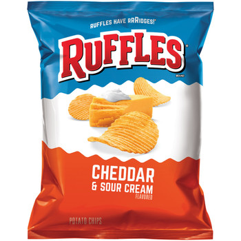 Ruffles Brand Cheddar & Sour Cream, 1.5 oz. Bag (1 Count)