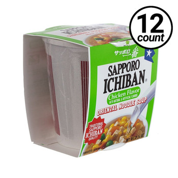 Sapporo Ichiban Soup, Chicken Noodle, 2.25 oz. Cups (12 Count)