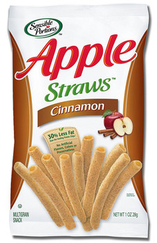 Sensible Portions, All Natural, Apple Straws, Cinnamon, 1 oz. Peg Bag (1 Count)