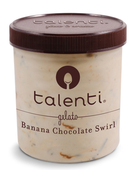 Talenti, Banana Chocolate Swirl, Gelato, Pint (1 Count)