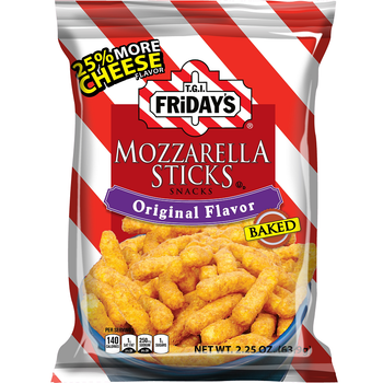 TGI Fridays, Mozzarella Sticks, Original Flavor, 2.25 oz. BIG Bag (1 Count)