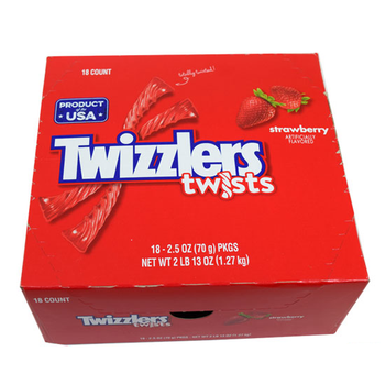 Twizzlers, Strawberry Twists, 2.5 oz. (18 Count)