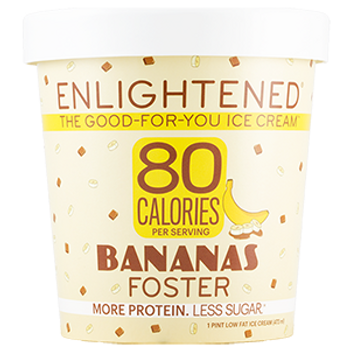 Enlightened, Banana Foster Ice Cream, Pint (1 Count)