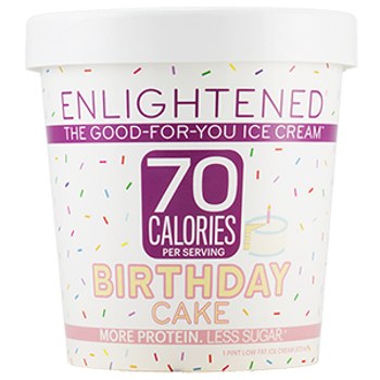 Enlightened, Birthday Cake Ice Cream, Pint (1 Count)