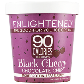 Enlightened, Black Cherry Chocolate Chip Ice Cream, Pint (1 Count)