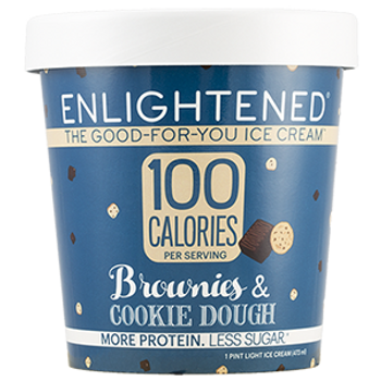 Enlightened, Brownies & Cookie Dough Ice Cream, Pint (1 Count)
