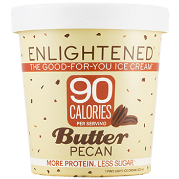 Enlightened, Butter Pecan Ice Cream, Pint (1 Count)
