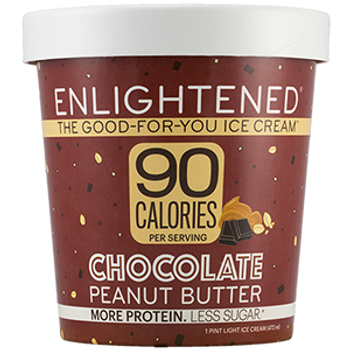 Enlightened, Chocolate Peanut Butter Ice Cream, Pint (1 Count)