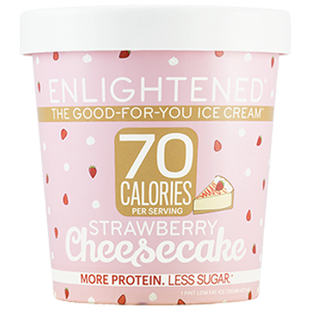 Enlightened, Strawberry Cheesecake Ice Cream, Pint (1 Count)