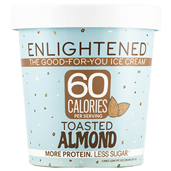 Enlightened, Toasted Almond Ice Cream, Pint (1 Count)