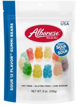 Albanese, 12 Flavor Sour Gummi Bears, 8.0 oz.  (1 Count)