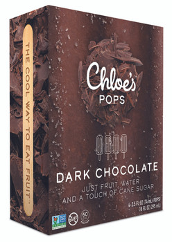 Chloe's Pops, Dark Chocolate, 2.5 oz. (4 Count)