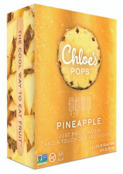 Chloe's Pops, Pineapple, 2.5 oz. (4 Count)