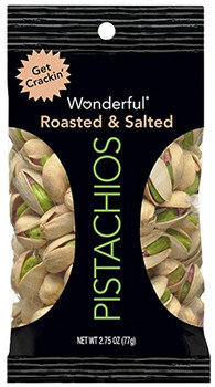 Wonderful Pistachios, Roasted & Salted, 2.75 oz. Peg Bag (1 Count)