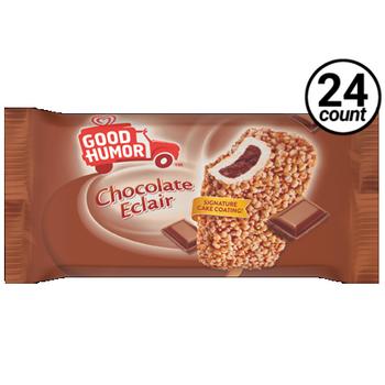 Good Humor Chocolate Eclair Ice Cream Bar, 4 Oz (24 Count)