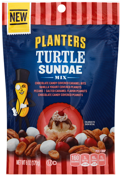 Planters Turtle Sundae Mix, 6 Oz Stand Up Bag (1 Count)