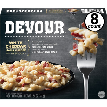 Devour White Cheddar Mac & Cheese w/Bacon, 12 Oz (8 Count)