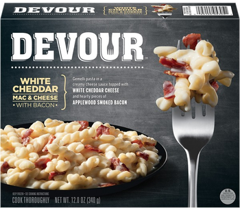 Devour White Cheddar Mac & Cheese w/Bacon, 12 Oz (1 Count)
