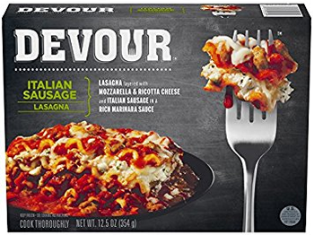 Devour Italian Sausage Lasagna, 12.5 Oz (1 Count)