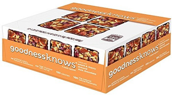 Goodness Knows, Peach, Cherry, Almond & Dark Chocolate, 1.2 Oz Bars (12 Count)