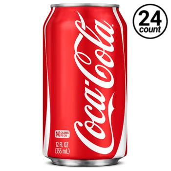 Coca-Cola Classic Soda, 12 Oz Can (24 Count)