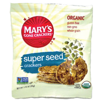 Mary's Gone Crackers Organic Gluten Free Crackers, Super Seed, 1.25 oz. (1 count)