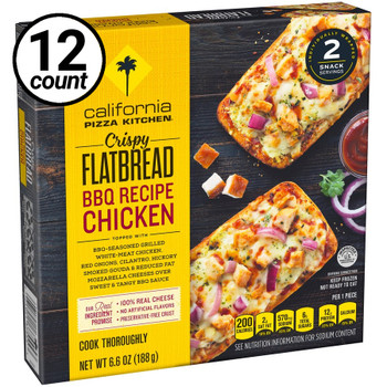 California Pizza Kitchen, BBQ Chicken, Crispy Flatbread, 6.6 oz. (12 Count)
