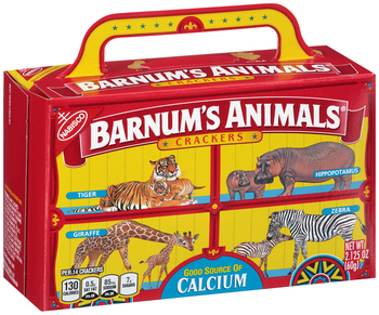 Barnum and Bailey Animal Crackers Box, 2.12 oz. (1 Count)
