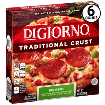 DiGiorno, Traditional Crust, Supreme, 9.3 oz. Pizza (6 Count)