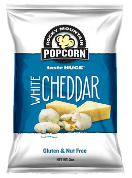 Rocky Mountain Popcorn, White Cheddar, 3.0 oz. bag (1 count)